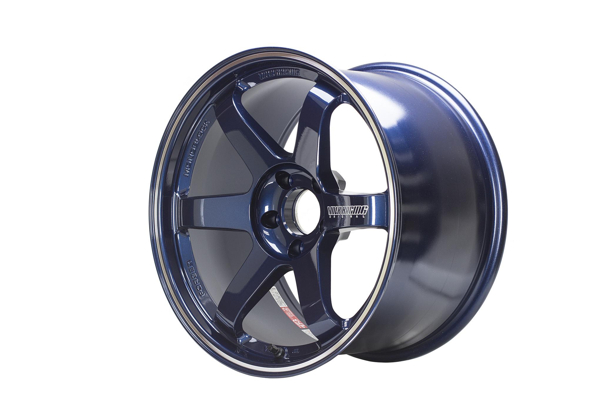 Volk Racing Te37rt 18 215 10 0 5 215 114 3 29 Mag Blue Set Of